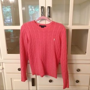 Pink Ralph Lauren Wool Sweater